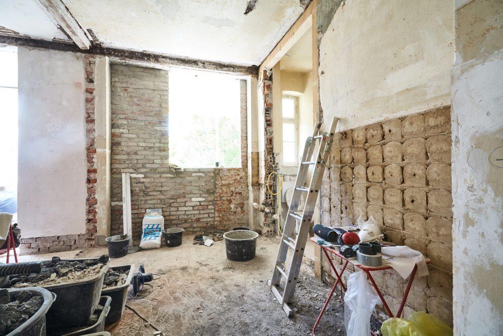 Urpsrungszustand vor der Renovierung nach Entkernung