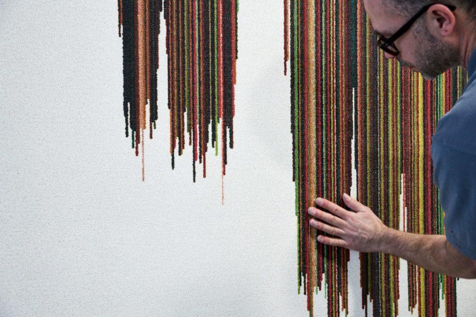 Hochwertige Tapezierarbeiten in einem modernen Stuttgarter Büro im Europaviertel 27